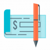 Financial check icon